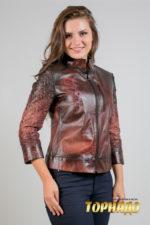Женская кожаная куртка. Артикул 20549.