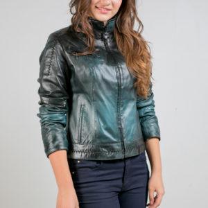 Женская кожаная куртка. Артикул 20551.