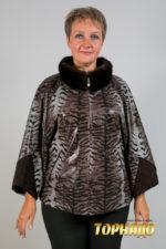 Женская кожаная куртка. Артикул 21126.