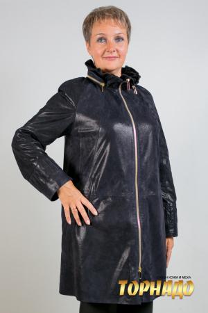 Женская кожаная куртка. Артикул 21132.