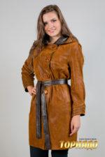 Женская кожаная куртка. Артикул 21138.