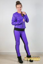 Женская кожаная куртка. Артикул 21262.