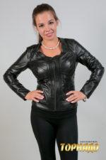 Женская кожаная куртка. Артикул 21268.