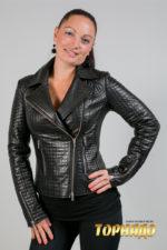 Женская кожаная куртка. Артикул 21273.