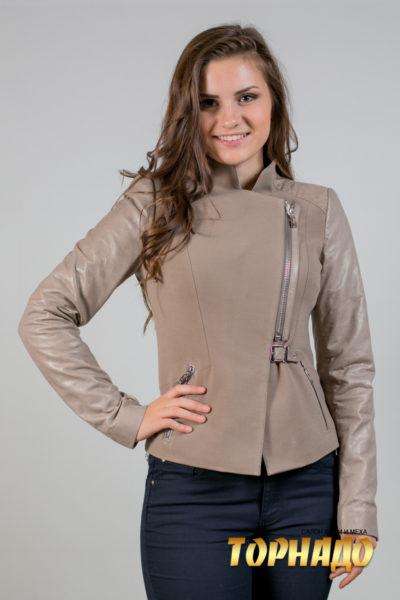 Женская кожаная куртка. Артикул 21282.