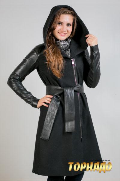 Женская кожаная куртка. Артикул 21309.