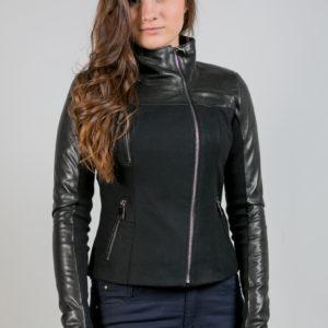 Женская кожаная куртка. Артикул 21316.