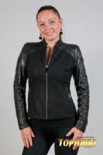 Женская кожаная куртка. Артикул 21395.