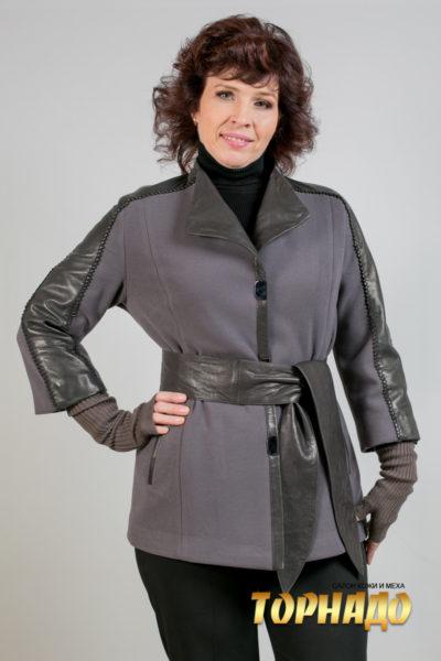 Женская кожаная куртка. Артикул 21400.