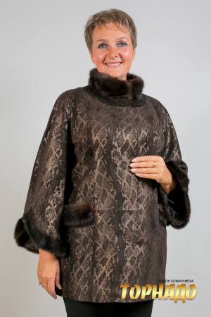 Женская кожаная куртка. Артикул 21761.