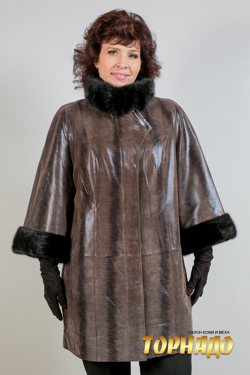 Женская кожаная куртка. Артикул 21769.