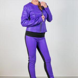 Женские кожаные брюки. Артикул 21176.