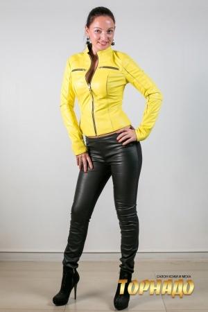 Женские кожаные брюки. Артикул 21180.