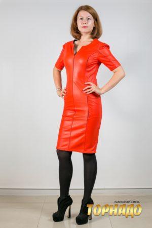Женское кожаное платье. Артикул 21192.