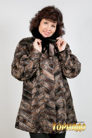Женское меховое пальто. Артикул 18873.