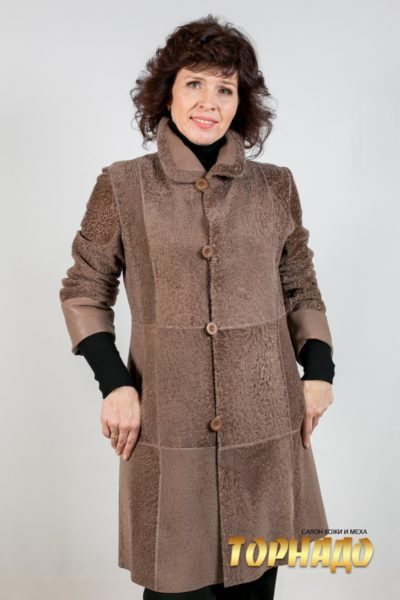 Женское меховое пальто. Артикул 21109.