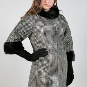 Женское меховое пальто. Артикул 21113.