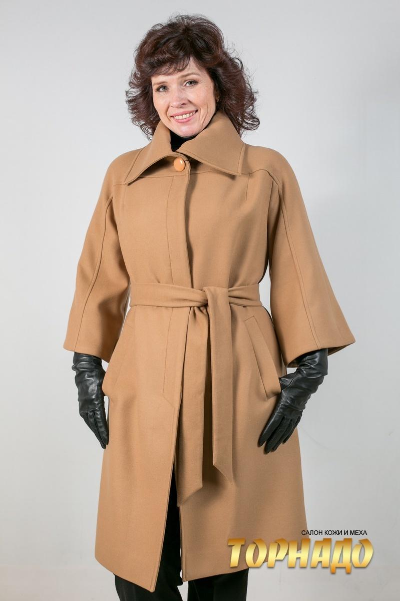 Женское пальто из кашемира. Артикул 20805.