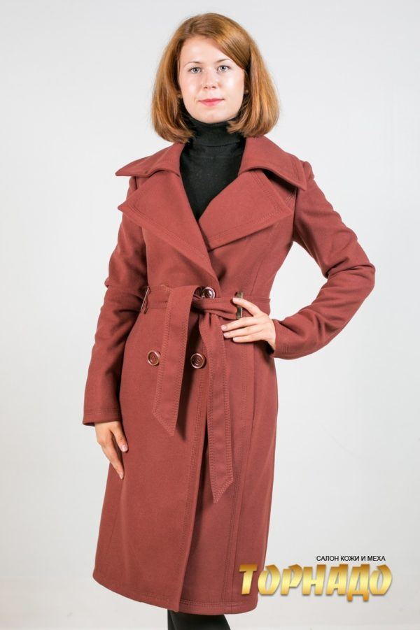 Женское пальто из кашемира. Артикул 21347.