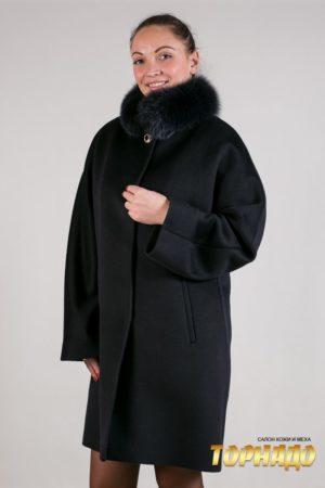 Женское пальто из кашемира. Артикул 22069.