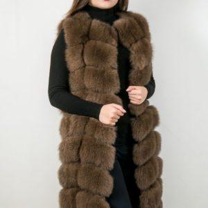 Женский меховой жакет из меха лисы. Артикул 22937.