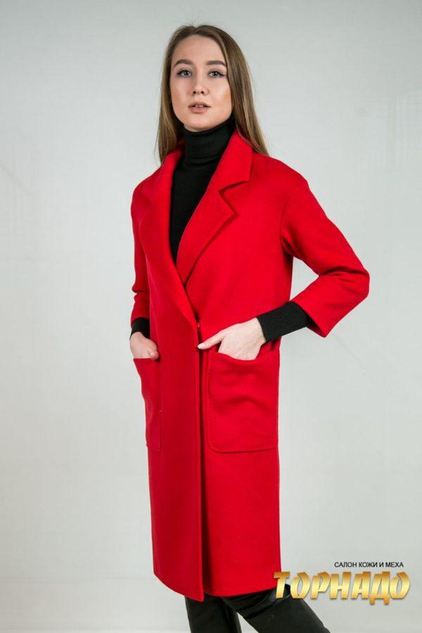 Женское пальто из кашемира. Артикул 23206.