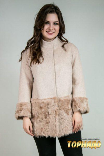 Женское пальто из кашемира. Артикул 23072.