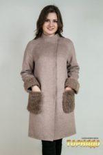 Женское пальто из кашемира. Артикул 23070.