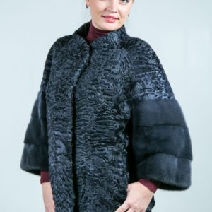 Женская шуба из каракульчи. Артикул ШК-23624.