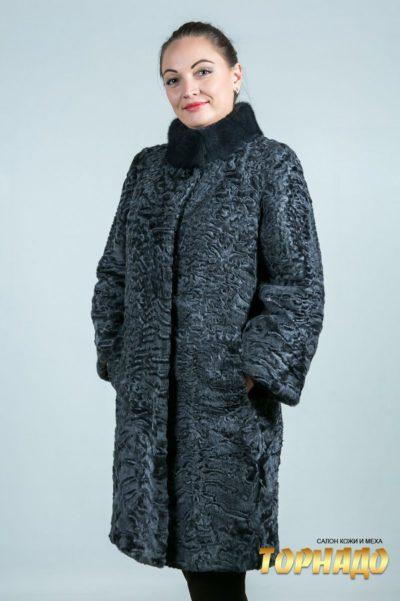 Женская шуба из каракульчи. Артикул ШК-23639.