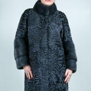 Женская шуба из каракульчи. Артикул ШК-23635.