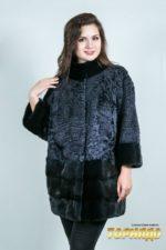 Женская шуба из каракульчи. Артикул ШК-23630.