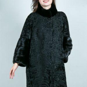 Женская шуба из каракульчи. Артикул ШК-23635-1.