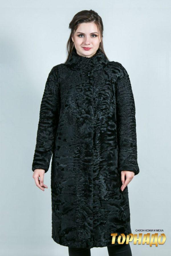 Женская шуба из каракульчи. Артикул ШК-23643.